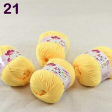 4balls  50g Cashmere Silk Wool Children hand knitting Baby Yarn Yellow Banana 21