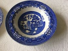 Single Vintage Woods Ware Blue Willow Pattern & Ironstone Side Plate and bowl