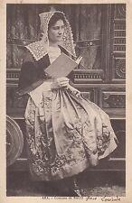 CF67.Vintage Postcard.Lady wearing a costume from the Baud area of France