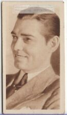 Clark Gable American Movie Star  Film Actor 1930s Trade Ad Card