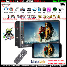 7''2 DIN GPS Android WIFI Touch Screen 8GB Car Radio MP5 Bluetooth FM Stereo DVR