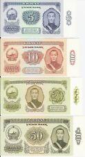 Mongolia,Set Of 4 Bank Notes,5,10,20&50 Tugrik UNC Uncirculated 1981