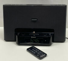 Sony Alarm Clock Radio Speaker Docking System ICF-CS15iP Remote Included