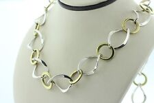 C-11 Mexico 925 Sterling Silver and Brass Link Chain Necklace - 24""