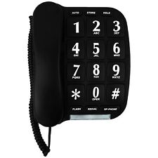 Blue Donuts BD-014BLK-Black Big Button Phone for wall or desk with Speaker and M