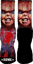 Original Rufnek Killing the Game Chucky Red & Black Unisex Crew Socks