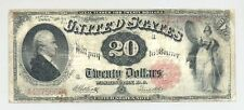 1880 $20 Twenty Dollar Bill United States Legal Tender Large Currency Note