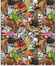 """12""""X30"""" Cool Style Sticker Bomb Vinyl Film For Car Wrapping With Air Bubble Free"""