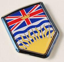 British Columbia Canada Flag Car Chrome Emblem Decal