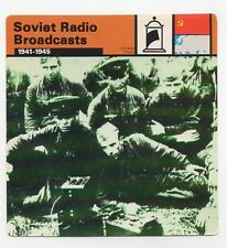 Soviet Radio Broadcasts - Propaganda & Advertising - Life & Times - WWII Card
