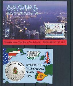 [G25817] Isle of Man 1997 : Good Lot of 2 Very Fine MNH Sheets