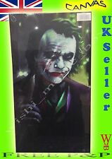 JOKER BATMAN CAVALIERE OSCURO Heath Ledger Film DVD ARTE TELA PICTURE 24 x 12
