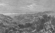 AUCKLAND. Manukau harbour. New Zealand, antique print, 1863