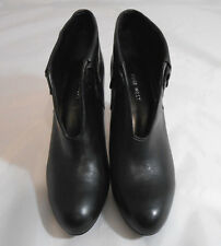 Nine West NW 7 MEZZA Black Leather Stiletto Heel Ankle Boots Womens Size 7.5 M