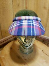 Liz Clairborne Womens Golf Visor Purple Plaid Slogger Sun Hat Cap