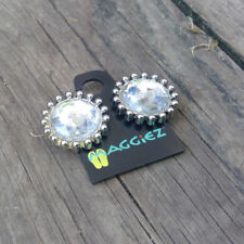 New MAGGIEZ Sandal Flip-Flop INTERCHANGEABLE Strap Button   Silver GEM Diamond