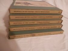 drawings of the masters, 5 hardback books and sleeves