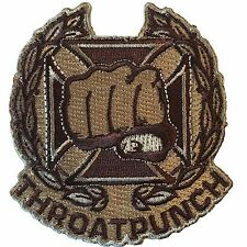 Throat Punch - Arid Desert - Embroidered Tactical Morale Patch