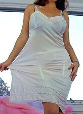 VTG Kayser Ivory Soft Shiny Satin Nylon Lace Insert Classy Full Slip Dress sz 36