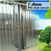 200*18*0.1cm PVC Plastic Strip Curtain Freezer Room Door Strip Kit Hanging  US