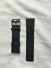 DIESEL GENUINE LEATHER WATCH STRAP WITH BUCKLE IN BLACK 26mm