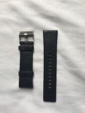 Diesel genuino cuero reloj correa con hebilla en Negro 26 mm