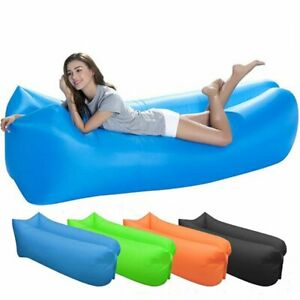 Inflatable Lounge Sofa Outdoor Air Bag Chair Camping Beach Lounger Bed Sofas