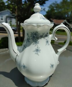 Bavaria Germany Winterling China Coffee pot  Renaissance II Blue Floral 6 cup