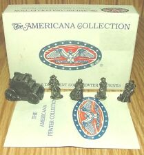 Liberty Falls Americana Collection AH48 Pewter Village People Figurine Set 1994