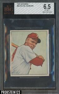 1950 Bowman #84 Richie Ashburn Philadelphia Phillies BVG 6.5 EX-MT+