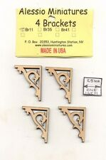 Bracket / Braces - BR11 wooden dollhouse miniature 1:12 scale USA made 4pcs
