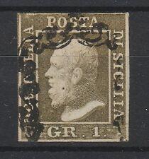 FRANCOBOLLI 1859 SICILIA 1 GR. II° TAVOLA POSIZIONE 65 D/1708