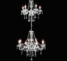 Kristall Glas Groß Kronleuchter Deckenlampe HängeLampe Lüster 13-Arm D66x200cm