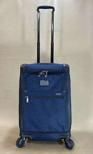Used Tumi Alpha 2 Exp International Carry-On Front Lid Navy Restoration 22560NVY