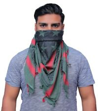 Shemagh Military Army Scarf Tactical Green Black And Red Star Patern Keffiyeh