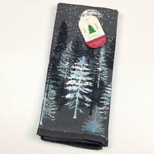 Love Joy Peace Moonlit Christmas Forest Kitchen Towels Set of 2 by Nicole Miller