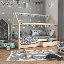 VICCO Lit Enfant WIKI avec deux tiroirs pour garçons et filles en bois massif
