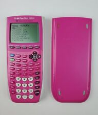 Texas Instruments TI-84 Plus Silver Edition Pink Graphing Calculator Working