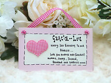 G04 Personalised Girls or Boys 1st to 10th Birthday Keepsake Gift Plaque