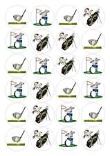 24 Golf  Cupcake Fairy Cake Toppers Edible Decorations Rice Paper