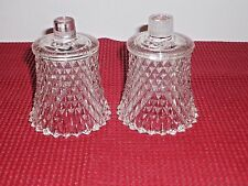HOMCO HOME INTERIORS CLEAR DIAMOND POINT VOTIVE CANDLE HOLDERS