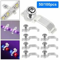 50/100pcs Mounting Brackets Clip Fixing Clips For 5050 LED Strip Light Bar