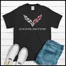 Corvette Logo T Shirt Racing Ring Spun Cotton Soft TEE Quality