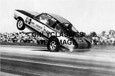 HURST HEMI UNDER GLASS BARRACUDA DRAGSTER WHEELIE PHOTO DRAG RACING HOT ROD AUTO