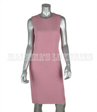 GUCCI DRESS SLEEVELESS BUBBLE GUM PINK MATTE SATIN SHIFT sz IT 40 / US 4
