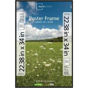 """Poster and Picture Frame, Black, 22.38"""" x 34"""""""
