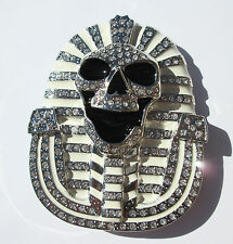 White & Chrome Spinx Belt Buckle - Free Shipping