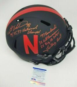 Grant Wistrom Nebraska Huskers Eclipse Signed Autographed Full Size Stat Helmet