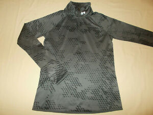 UNDER ARMOUR 1/2 ZIP LONG SLEEVE GRAY PRINT RUNNING TOP WOMENS SMALL EXCELLENT