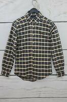Ralph Lauren Polo Men's Slim Fit 100% Cotton Checkered Long Sleeve Shirt - S & M